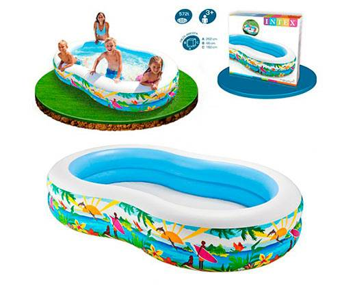 INTEX PISCINA OVAL PARADISE 262X160X046 CM